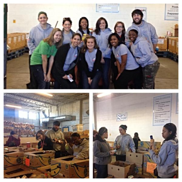 2013-2014 members serving at Second Harvest foodbank